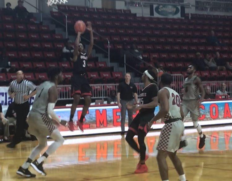 Nicholls State sophomore guard Kevin Johnson